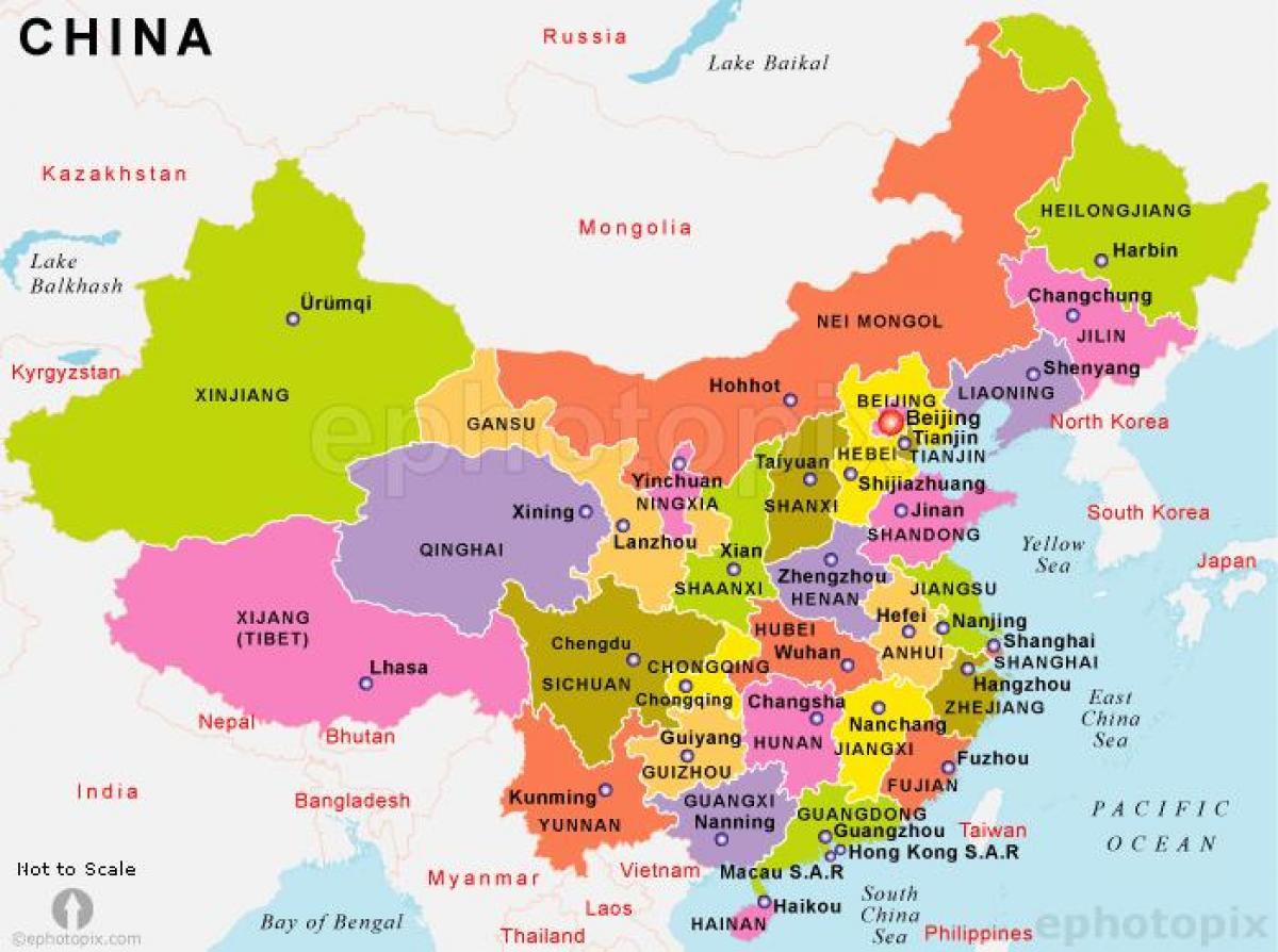 Kina Karta Kine Kartica Drzava U Istocnoj Aziji Azija